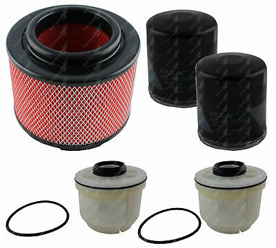 Oil Air Fuel Filter DOUBLE Service Kit Toyota Hilux KUN16 KUN26 Tur Dies 1KD-FTV