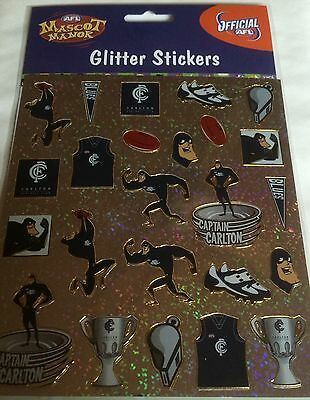 Afl Carlton The Blues  Football  Stickers Glitter Mascot Sticker Pack