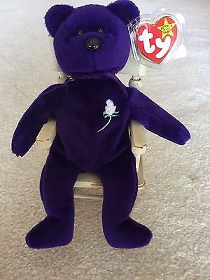 Princess Diana Beanie Baby *RARE MINT CONDITION* 1997 PVC Pellets
