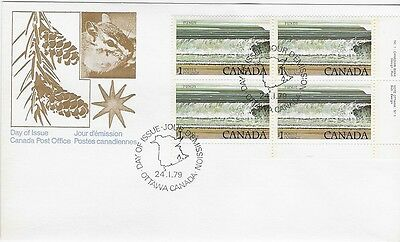 Canada Post OFDC 1979 $1.00 National Parks: Bay of Fundy LR Plate Bl FDC Sc #726