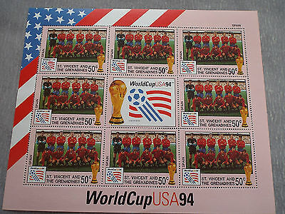 BF Neuf St Vincent et Grenadines WC Football USA 1994 : Equipe d'Espagne