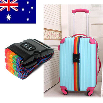 Adjustable Travel Luggage Baggage Suitcase Bag Packing Strap Security Belt AU