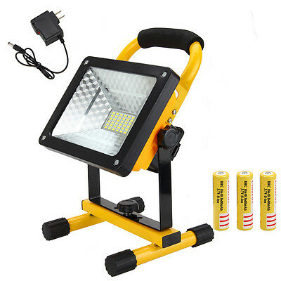 Portable Rechargeable 50W Work Light LED Flood Spot Outdoor Hiking Lamp 3x18650