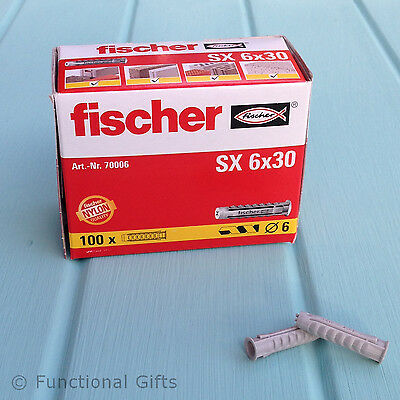 Genuine Fischer Wall Plugs - 6mm Nylon SX High Performance Heavy Duty Rawl 6mm