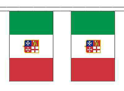 Italy Civil Ensign Polyester Flag Bunting - 10m with 28 Flags