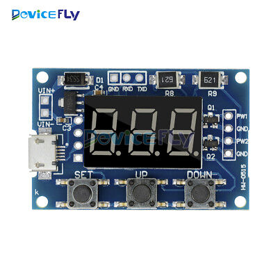 2 Channel Independent PWM Generator Adjustable Duty Cycle Pulse Frequency Module