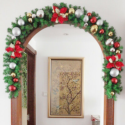 1X New Thick Christmas Garland Indoor Holly Decoration 270 cm x 25 cm