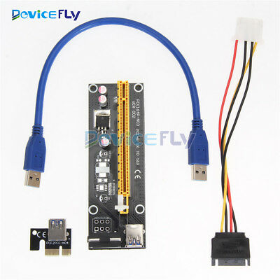 USB 3.0 PCI-E Express 1x To 16x Extender Riser Card Adapter Power Cable 50cm