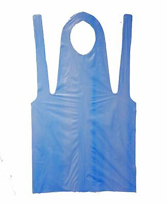 "Shield Safety - Economy Disposable Poly Apron, 2 Mil Blue 28"" x 46"" Pack of 100"