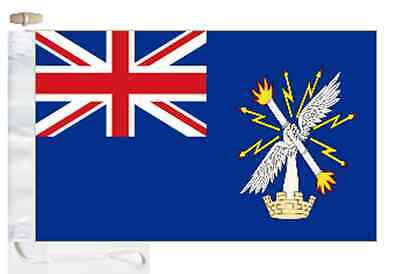 British Army Royal Engineers' Blue Ensign Courtesy Boat Flag Roped & Toggled