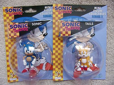 Sonic the Hedgehog SONIC and TAILS - 2 Mini Figure Collectibles F4F 2.5""