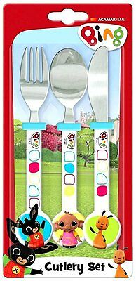 Spearmark CBeebies Bing Bunny Knife Fork Spoon Cutlery Set Age 3 - 4