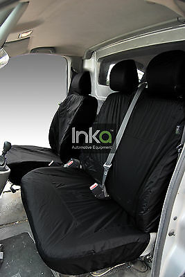 Renault Trafic Front Inka Tailored Waterproof Seat Covers Black No AR MY01-14
