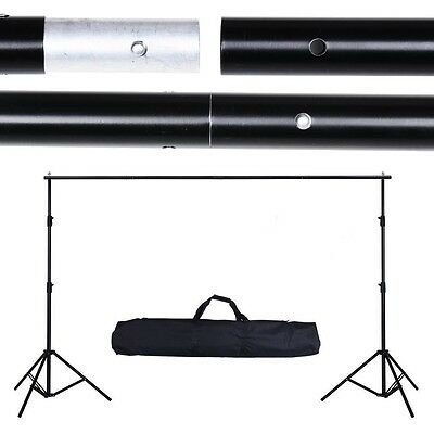 6.56Ft Adjustable Background Support Stand Photo Backdrop Crossbar Photograph