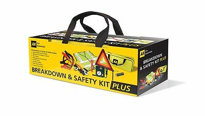 Car Breakdown Safety Kit Emergency Travel High Visible Triangle Vest Tourch