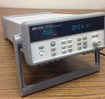 HP 34970A Data Acquisition Switch w/ 2x 20 Channel Multiplexer Cards