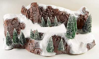 "Dept 56 Large 35"" Village Snow Covered Mountain #5228-0 with Sisal Trees NEW"