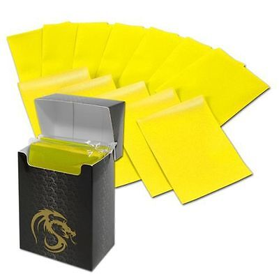 Deck Guard Deck Protector Sleeve Matte Yellow 80 Count Bcwdgm80Yl