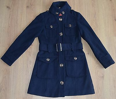 Navy fitted mid length school coat age 11-12 years from Next fast postage