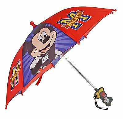 Disney Mickey Mouse Red and Blue Umbrella Mickey Handle Toddler Kids Boys
