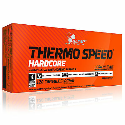 Thermo Speed Hardcore 30-180 Caps. Thermogenic Fat Burner Reduction Shredded