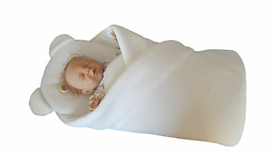 BlueberryShop FLEECE with Pillow Very WARM and Cute Swaddle Wrap Blanket Sleep