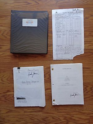 Star Trek First Contact Borg Resurrection Stage Screen Used Script Revised 2nd
