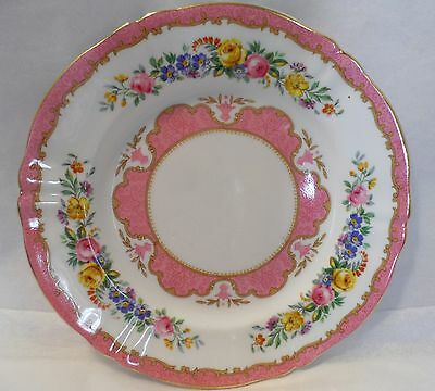 Crown Staffordshire Pink Lyric Tunis Bread & Butter Plate Bone China