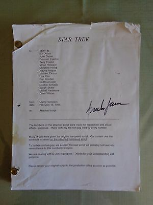 Star Trek First Contact Borg Resurrection Stage Screen Used Script Revised 2nd B