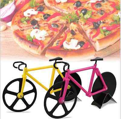 Bike Pizza Cutter Fixie Road Bicycle Chopper Slicer Kitchen Tool Stainless Gifts