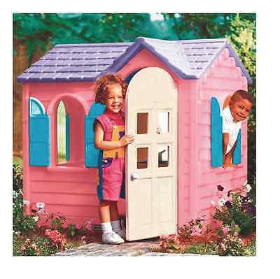 NEW Little Tikes Pink Country Cottage Kids Play Houses Wendy House Garden Toys