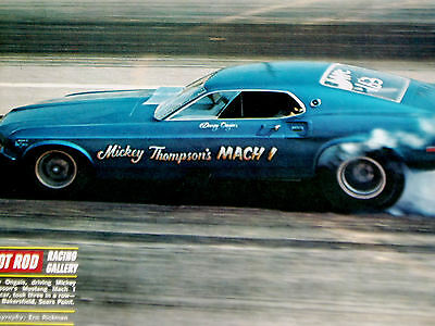 1969 Ford Mustang Mach 1 Funny Car-Danny Ongais/mickey Thompson/tire Smoker/race