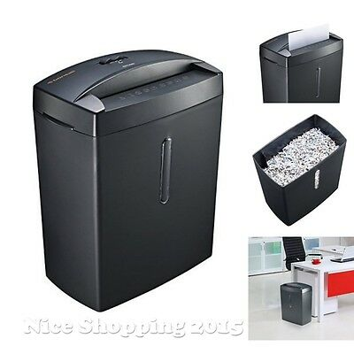 Bonsaii Electric Paper Shredders 6 Sheet Micro Cut Office Overheating Protection