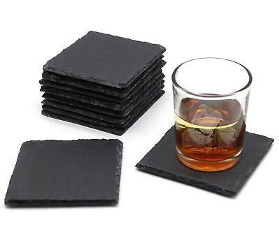10x10cm Natural Slate Square Coasters Wedding Ceremony Tea Drinks Table Mat Gift