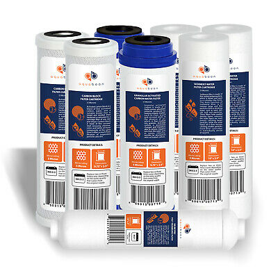 5 Stage Reverse Osmosis System Replacement Filter Set RO Cartridges (8 pcs)