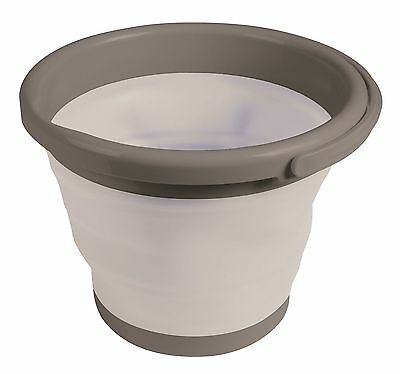 Kampa Silicone Sided 5 Litre Folding Grey Bucket