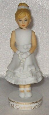 Growing Up Girls Blonde First Communion Figurine New Enesco 1st