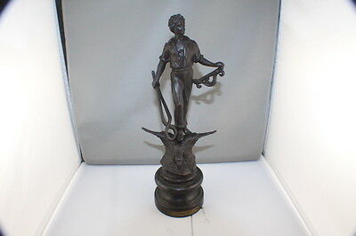 "Antique French Spelter ""Le Travail"" Figurine Statue  Cira 1890's"