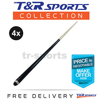 "4x 48"" Short Wooden 2-Piece Pool Cue Billiard Free Delivery"
