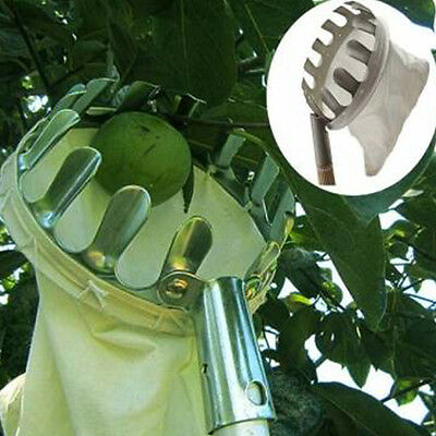 Deluxe Lightweight Apple Pears Plums Fruit Picker Handle Easy Grip Hot Sale DE