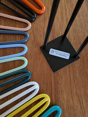 Hairpin Legs | COLOURED | 3 rod | Sizes 250mm - 1050mm | Powdercoated | Set of 4