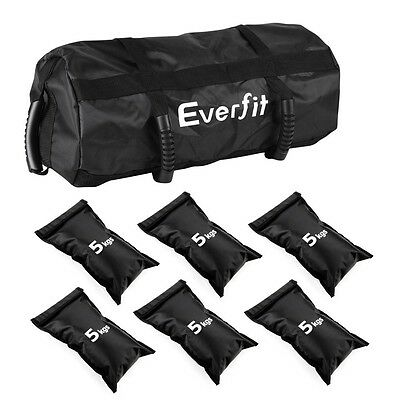 30kg Sand Bag Weight Kit 6x5kg Personal Training Home Gym Professional Weights