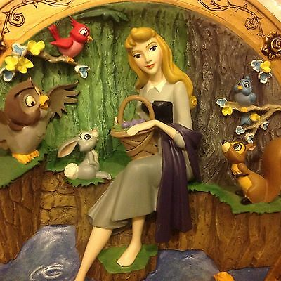 RARE Disney Sleeping Beauty Aurora ONCE UPON A DREAM 3 D Plate Figurine MIB-COA