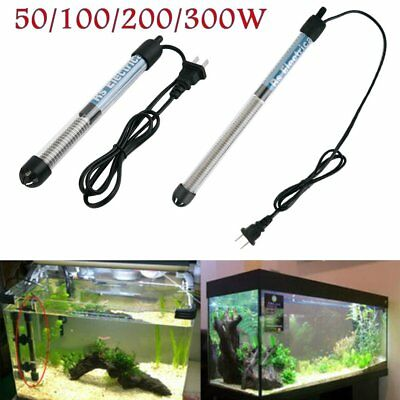 New 50/100/200/300 Aquarium Mini Submersible Fish Tank Adjustable Water Heater
