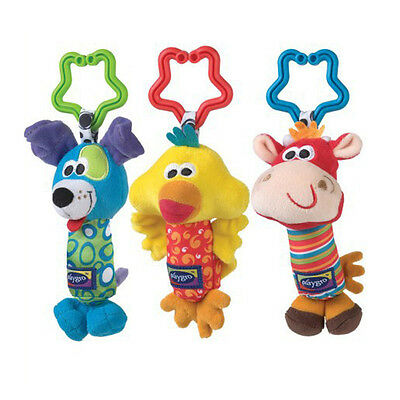Kids Baby Soft Animal Handbell Rattles Bed Stroller Bell Developmental Toy US
