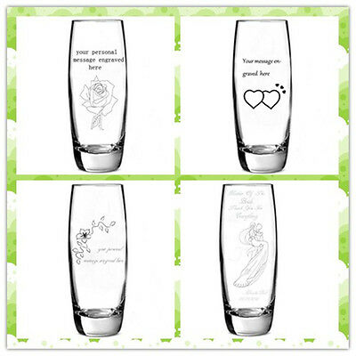 Personalised Engraved Glass Bud Vase Birthday Mother of the Bride Wedding Gift
