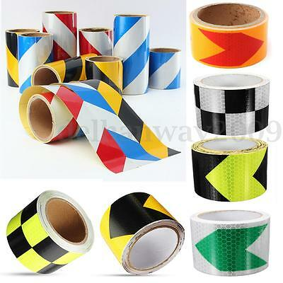 Reflective Safety Warning Conspicuity Tape Roll Film Sticker Truck 5-20cm Width