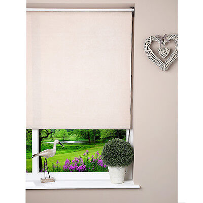 Straight  Window Roller Blind - Corded - Fabric Suede Natural Beige - 90 x 160cm