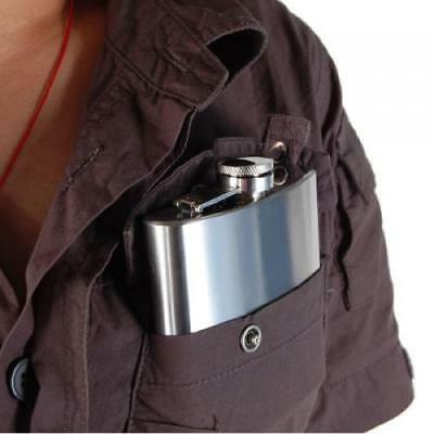 6oz Stainless Steel Liquor Whisky Alcohol Hip Flask with Screw Cap
