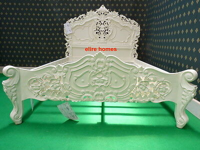 "UK STOCK Double 4'6""  Ivory French style designer Rococo Bed ....... Top Quality"